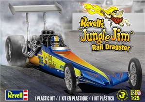 "Jungle Jim ""Rear Engine"" Rail Dragster with Standing Figure (1/25) (fs)"