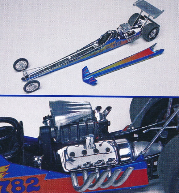 """Jungle Jim """"Rear Engine"""" Rail Dragster With Standing"""