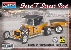 1924 Ford T Street Rod with Trailer (1/24) (fs)
