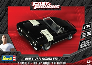 "Dom's '71 Plymouth GTX (2 'n 1) (New Tooling) (1/24) (fs)<br><span style=""color: rgb(255, 0, 0);"">August, 2020</span>"