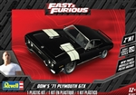 Dom's '71 Plymouth GTX (2 'n 1) (New Tooling) (1/24) (fs) Damaged Box