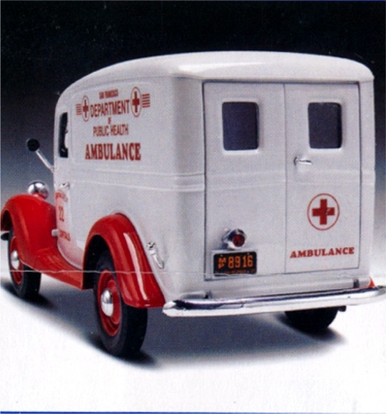 1937 Ford Panel Delivery Ambulance Or Delivery Truck 1 25