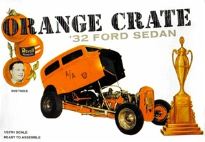 Orange Crate 1932 Ford Altered Sedan by Bob Tindle  (1/25) (fs)