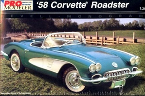"1958 Corvette Roadster ""Pro-Modeler"" Enhanced Kit (1/25) (fs)"