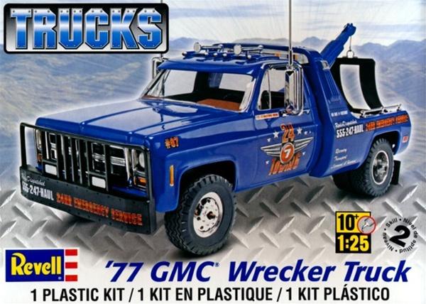 1977 Gmc Wrecker Truck Plastic Model Kit 1 25 Fs