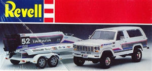 "1980 Ford Bronco with Yamaha Formula One Racing Boat and Trailer ""Formula One Team"" (1/25) (fs)"
