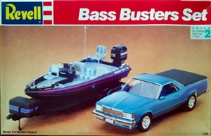 "El Camino with Bass Boat and Trailer ""Bass Busters""  Set  (1/25) (fs)"