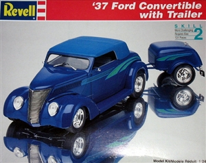 1937 Ford Convertible with Trailer (1/24) (fs)