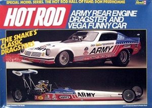 Don 'Snake' Prudhomme Army Rear Engine Dragster and Vega Funny Car (1/16) (si)