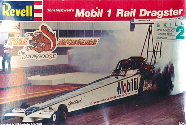 Tom McEwen's the Mongoose Mobil 1 Rail Dragster (1/25) (fs)