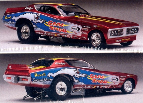 "Goodyear Racing Tires >> 1974 Gene Snow Dodge Charger ""Snowman"" Funny Car (1/25) (fs)"