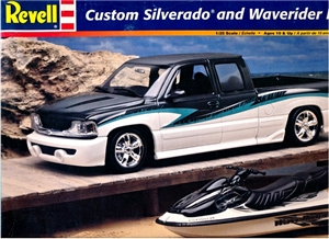 1999 Chevy Silverado Custom with Waverider and Trailer (1/25) (fs)