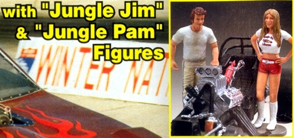 1976 Jungle Jim Monza Funny Car with Jim & Pam Figures (1 ...