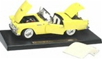 1955 FORD THUNDERBIRD - MEADOW YELLOW/WHITE REMOVABLE TOP - 1999 RELEASE(1/18) Rare Diecast  (fs)
