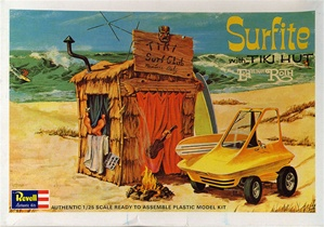 Surfite - Beatnik with Tiki Hut and Beach Buggy designed by Ed Roth (fs)