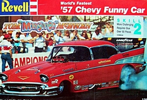 "1957 Chevy Funny Car Tom ""Mongoose"" McEwen (1/25) (fs)"