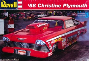 "1958 Plymouth ""Christine"" Pro-Modified Dragster  (1/25) (fs)"