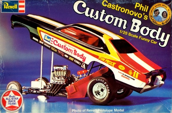 197X Phil Castronovas Custom Body Funny Car (1/25) Missing parts see details