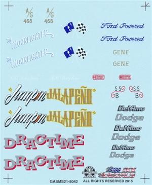 Slixx 8022 Gasser Mini Sheet #8 Drag decal
