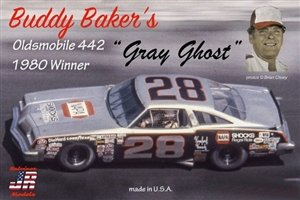 "1977 Oldsmobile ""Buddy Baker's NAPA Gray Ghost Cutlass # 28"" (1/25) (fs)"