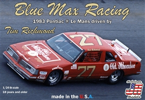 "Blue Max Racing 1983 Pontiac LeMans #27 driven by Tim Richmond (1/24) (fs) <br><span style=""color: rgb(255, 0, 0);"">Just Arrived</span>"