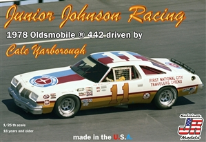 "Junior Johnson Racing  ""First National City Travelers Checks"" 1978 Oldsmobile 442 #11 driven by Cale Yarborough (1/25) (fs) <br><span style=""color: rgb(255, 0, 0);""> Just Arrived</span>"