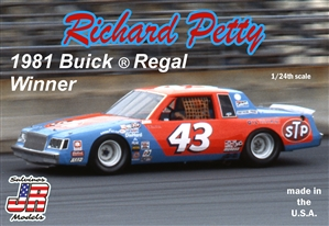 "Richard Petty's 1981 Race Winning ""STP"" #43 Buick Regal (1/24) (fs) <br><span style=""color: rgb(255, 0, 0);"">Just Arrived</span>"