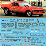 Big John Mazmanian Cuda, Willys, Austin (1/25) Slixx-Decal