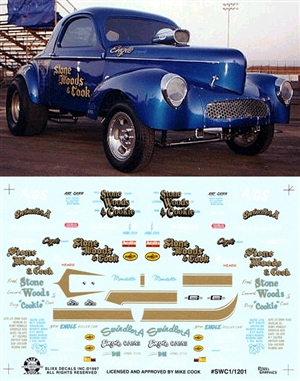 Stone Woods & Cook Willys Gasser Decal (1/25)