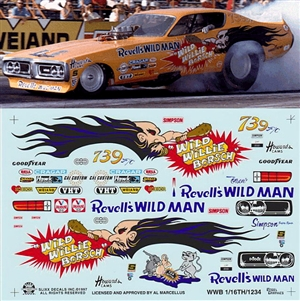 Wild Willie Borsch Charger Funny Car Decal (1/16)