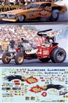 Wild Willie Borsch Charger Funny Car & Fuel Altered Decals (1/25)