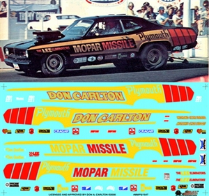 Mopar Missile Duster Funny Car & Super Stock 1971-75 Dusters (1/25) Slixx-Decal
