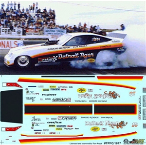 Tom Prock's Detroit Tiger Monza Funny Car Decals  (1/25)