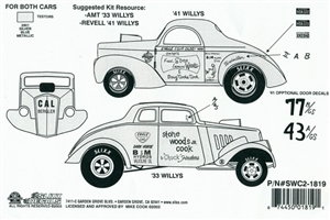 Aurora 41 Willys Decals