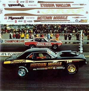 Motown Missile Barracuda Super Stock fits Revell 1970 Cuda kits (1/25) Slixx-Decal