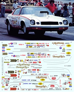 Grumpy Jenkins' Pro Stock Camaros from the '70'S & '80'S  (1/25) Slixx-Decal