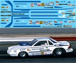 Bob Glidden's Ford EXP Pro Stock Decal (1/25)