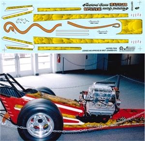 "Howard Cams ""Rattler""  Front Engine Dragster (1/25) Slixx-Decal"