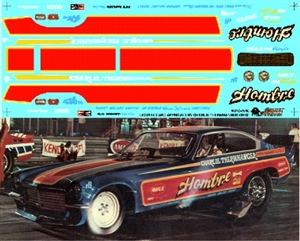 Charlie Therwhanger's Hombre Vega Funny Car Decal (1/25)
