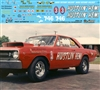 Paul Richardson's Hustlin' Hemi '68 Dart or '65 Dodge Coronet Decal (1/25)