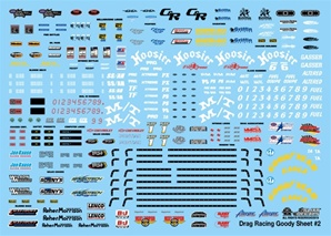 Drag Racing Goody Sheet #2 Decal (1/24) or (1/25)