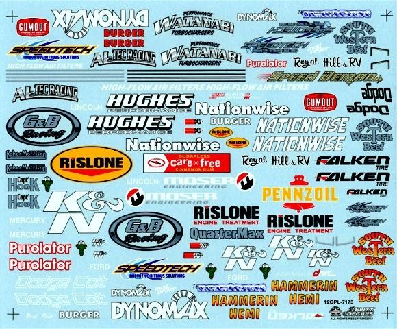 Drag Racing Quarter Panel (1/25) Slixx-Decal