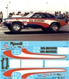 Don Grotheer's '70/'71 Pro Stock Hemi Cuda Decal (1/25)