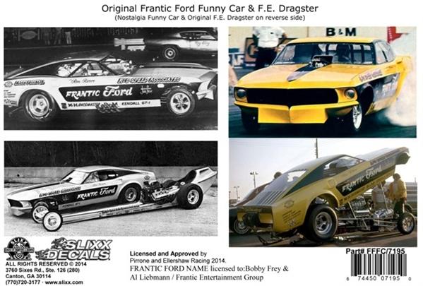 Frantic Ford Nostalgia Mustang Funny Car u0026 Original F/C with F.E. Dragster Decal (1/25) & Frantic Ford Nostalgia Mustang Funny Car u0026 Original F/C with F.E. ... markmcfarlin.com