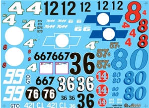 "Number Decal Sheet ""S"" (1/25)"