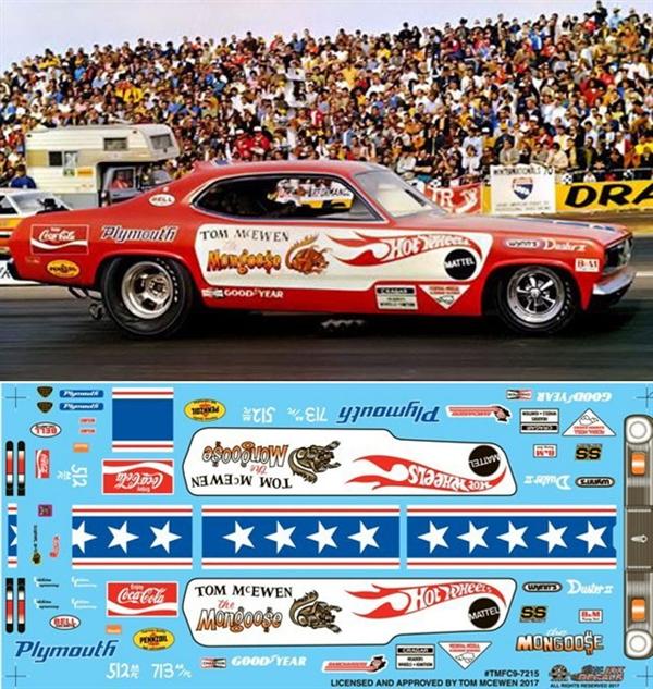 Tom Mcewen S 1st Hot Wheels Duster Decal 1 25