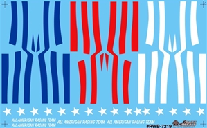 Red, White and Blue All American Racing Team Stars and Stripes Decal (1/25)