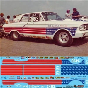 Bob Glidden's Stars & Stripes Thunderbolt Pro Stock Decal (1/25)