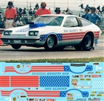 Bob Glidden's Stars & Stripes Monza Pro Stock Decal (1/25)