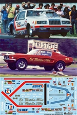 Bob Glidden's 1984-85 Chief 7/11 Motorcraft T'bird or Mustang Pro Stock Decal (1/25)
